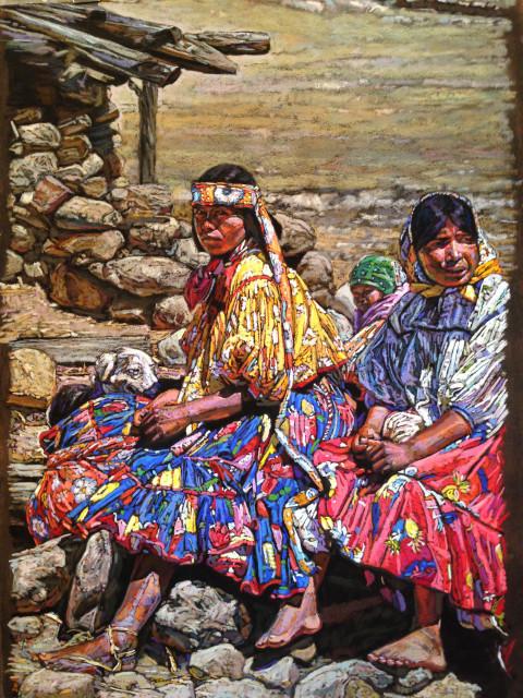 Bill Baker, Forlorn Flower, pastel, 18x25